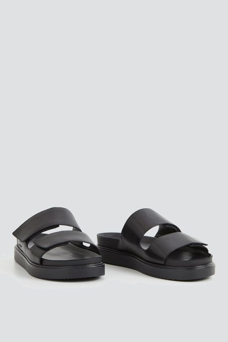 Vagabond Seth Leather Slide Sandal - Black