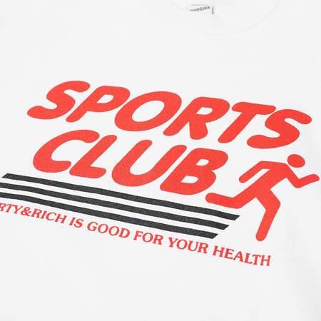 Sporty & Rich Sports Club Crewneck sweater - White
