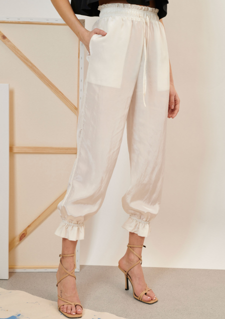 Ghospell Notion Drawstring Trousers - Ivory
