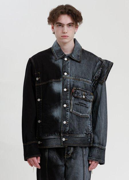 Feng Chen Wang Levi's Edition Denim Oversized Trucker Jacket - Blue/Black
