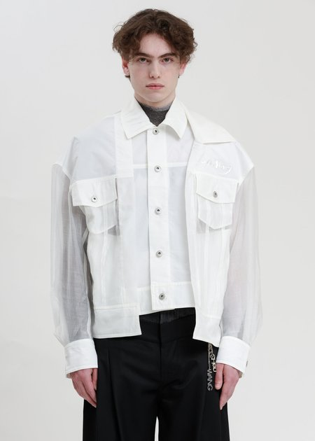 Feng Chen Wang Transparent 2 in 1 Jacket - Clear