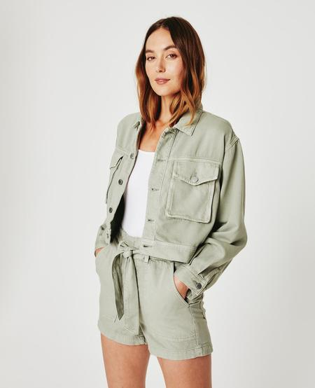 Adriano Goldschmied Mirah Fatigue Jacket - Sulfur Natural Agave