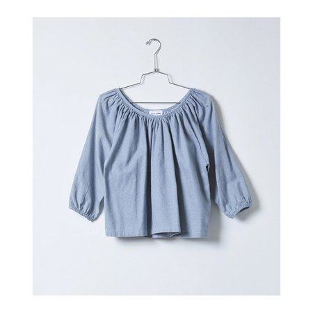 Atelier Delphine Upcycled Chambray Afton Top - Upcycled Chambray