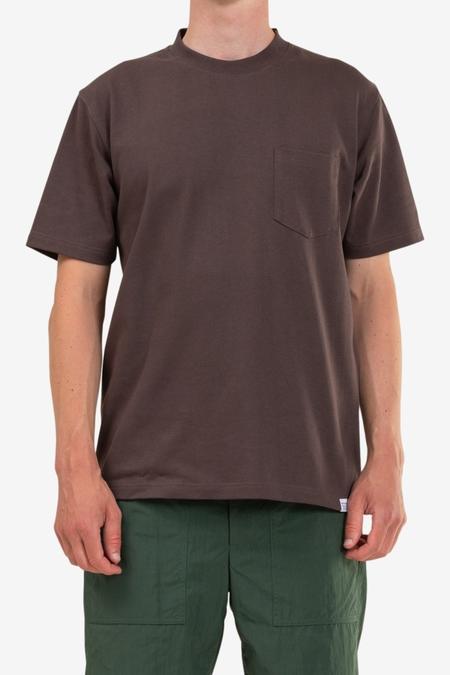 Norse Projects Johannes Pocket SS T-Shirt - Heathland Brown