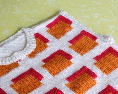 Alice Duncan-Gardiner Vest - Orange/Red