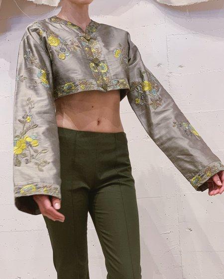 Vintage Silk Embroidered Bolero jacket - Multi