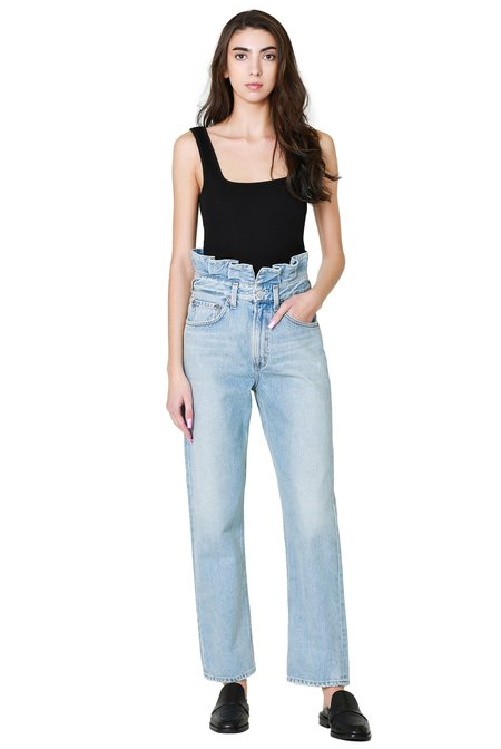 AGOLDE Lettuce Waistband Reworked High Rise Fitted 90s Jean - Revival