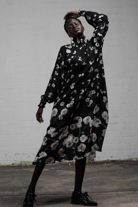 SALASAI ARCADIA DRESS - BLACK ROSE