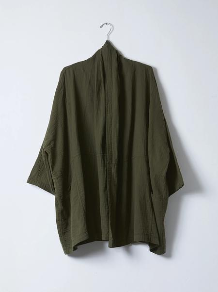 Atelier Delphine Lightweight Haori Coat - Hunter Green