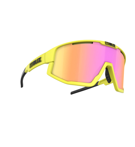 Bliz Fusion glasses - Neon Yellow Frame/Brown Purple Lens