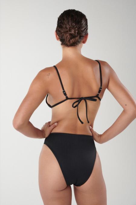 Ookioh Dead Sea Bikini Bottom - Black Rib