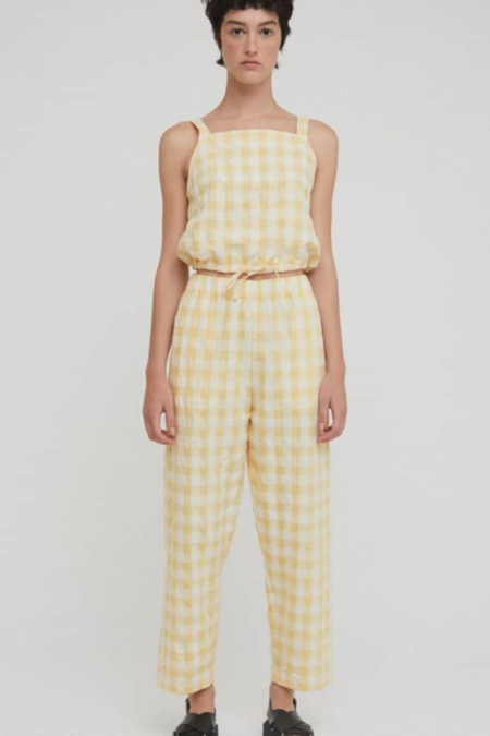 Rita Row Alfi Pant - Yellow Check