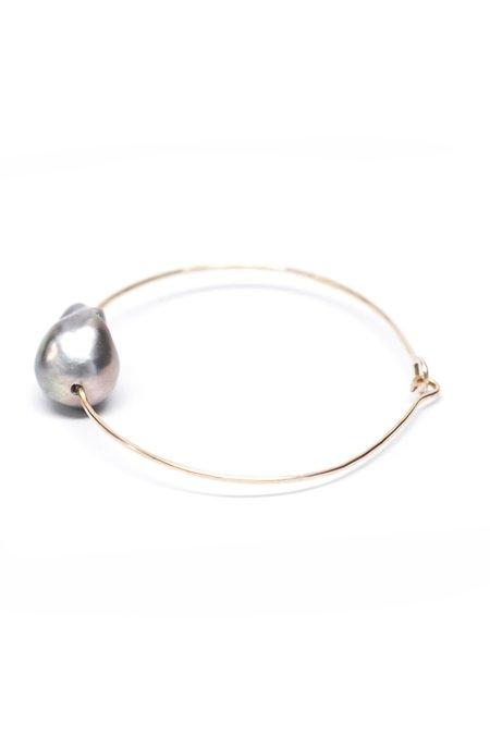 Mary MacGill Baroque Pearl Cuff - Silver