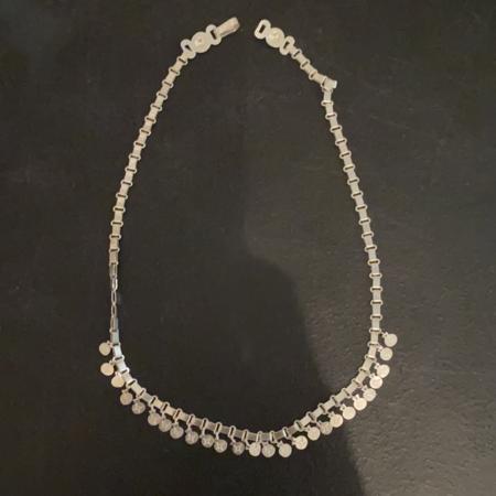 VOZ Apparel Mini Disc Necklace - silver necklace