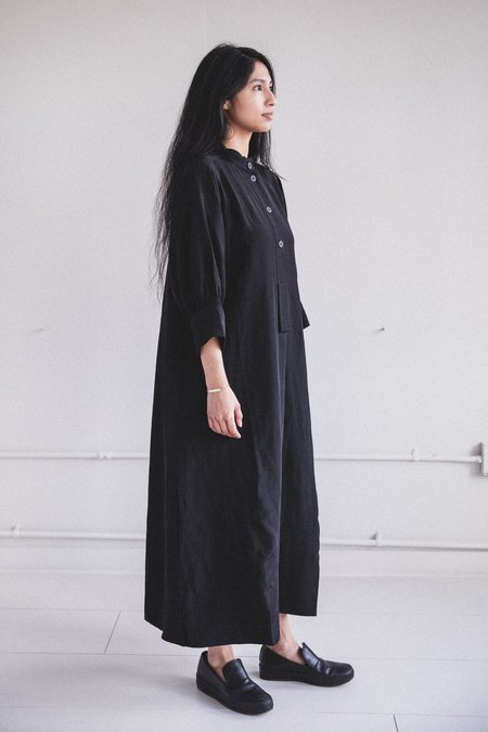 Studio Nicholson Knoll Viscose Linen Dress - Black