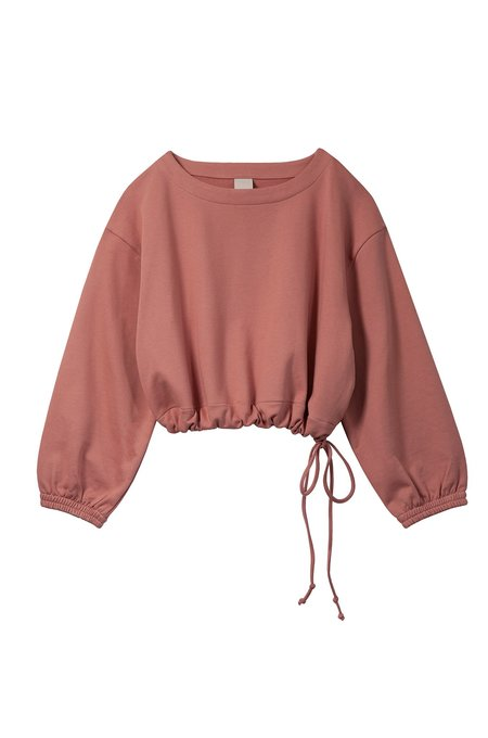 Soft Focus The Scrunch Sweatshirt - Baked Coral