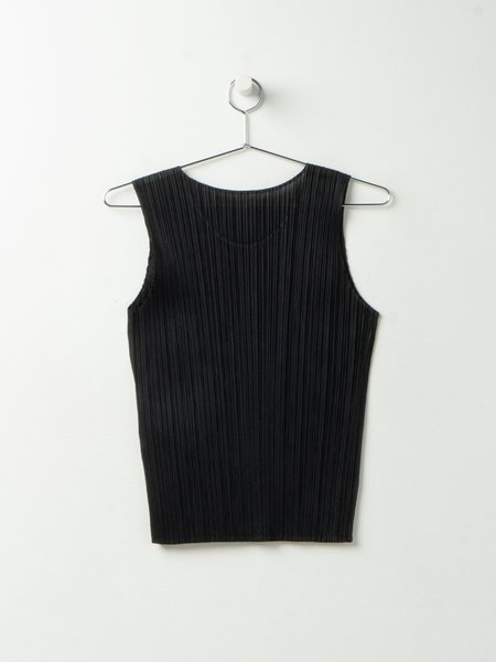 Pleats Please by Issey Miyake Basics Sleeveless top - Black