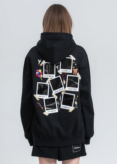 Doublet Memorial Polaroid Hoodie - Black