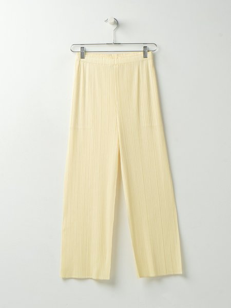 Pleats Please by Issey Miyake PANTS - BABY YELLOW