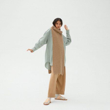 Monica Cordera Chunky Soft Wool Collar - Camel