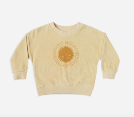 Kids Rylee + Cru Terry Crewneck sweater - Sun
