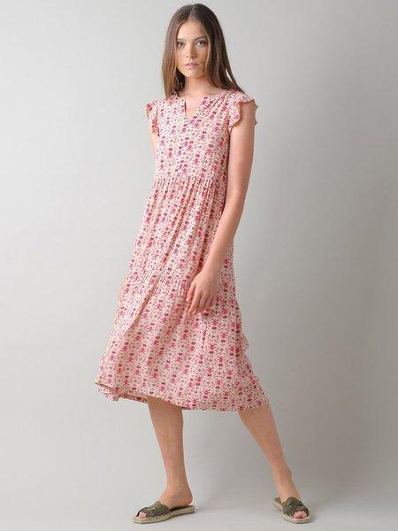 Indi & Cold Printed Clara Dress - Cherry