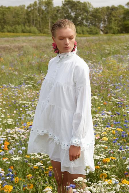 Notes Du Nord Tenna Dress - white