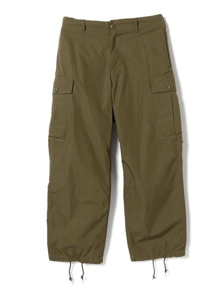 Beams Plus MIL 6Pocket 80/3 Ripstop Cargo Pants - Olive