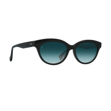 Raen Blondie Sunglasses - Crystal Black & Teal