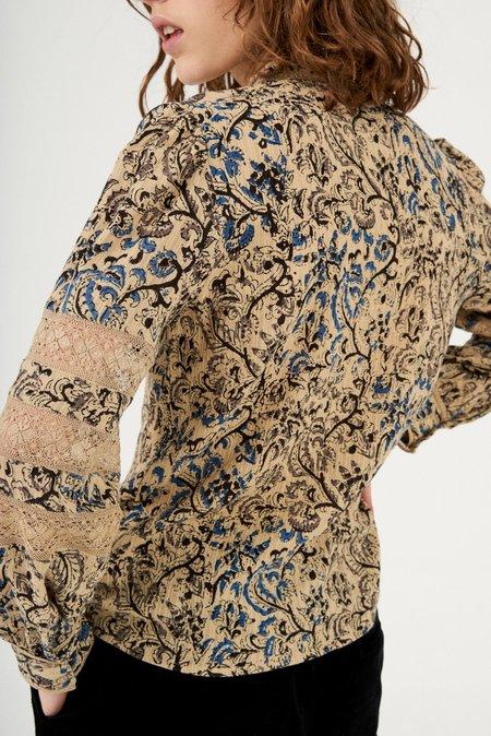 Antik Batik Mary Lace Blouse - Beige Multi