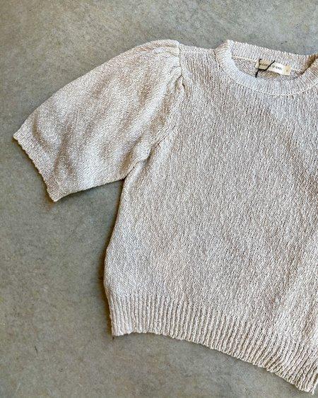 Micaela Greg Mira 3/4 Sleeve Sweater - Antique White