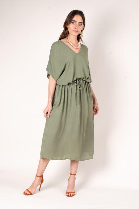 tonle Otres Dress - Moss Crepe