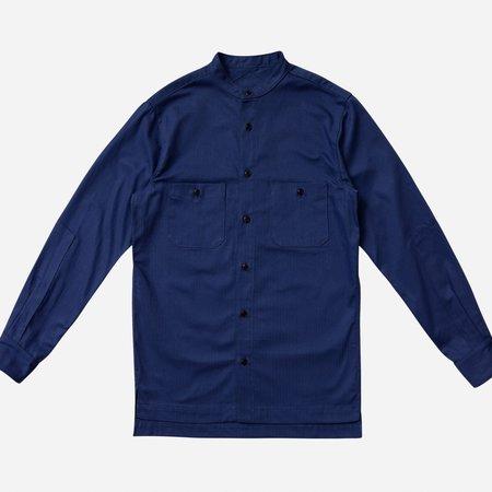 3Sixteen HBT Band Collar Shirt - French Blue