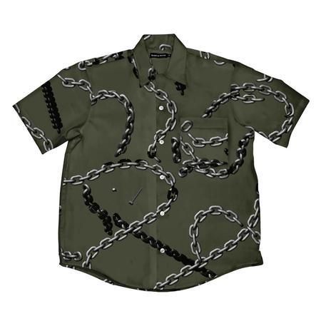Raised by Wolves Chains Camp Shirt - Olive Drab