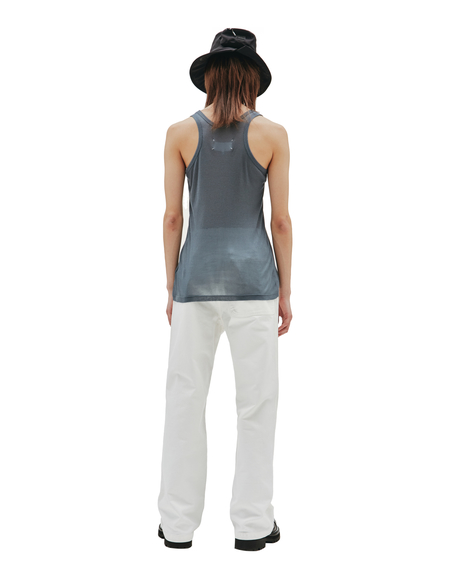 Maison Margiela Knitted Cotton and Silk Tank Top - Grey
