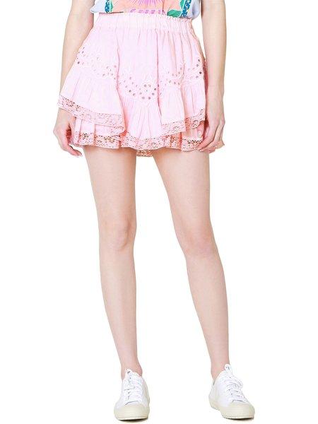 LoveShackFancy Briella Mini Skirt - Pink Grace