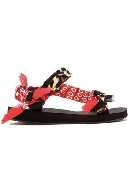 Arizona Love Trekky Leopard Print sandals - Red Bandana
