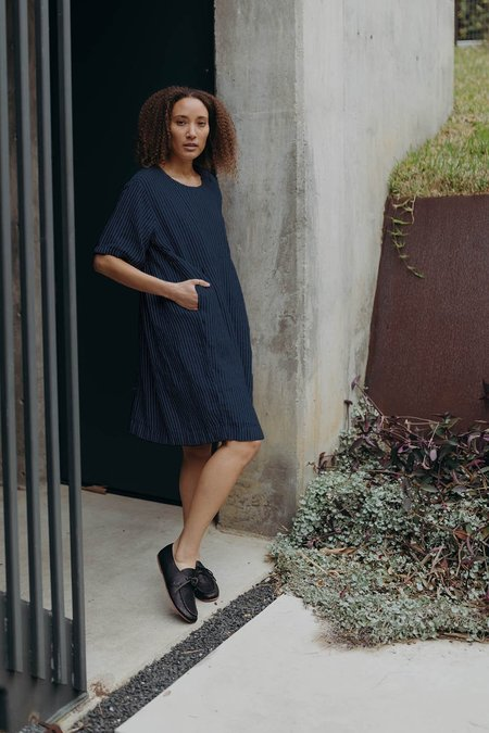 Esby Agnes Dress - Indigo Stripe