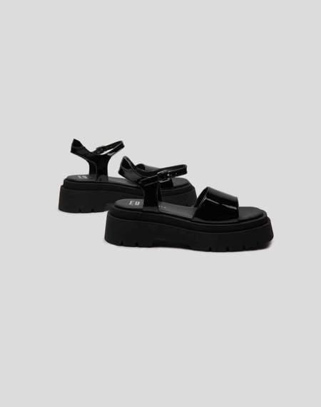 Miista Pauline Patent Sandals - Black