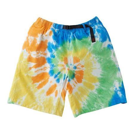 Unisex Gramicci Tie-Dye G-Shorts - Orange Spiral