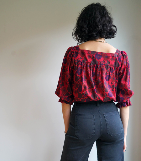 Mabel and Moss Poppy Melody Top - red/blue
