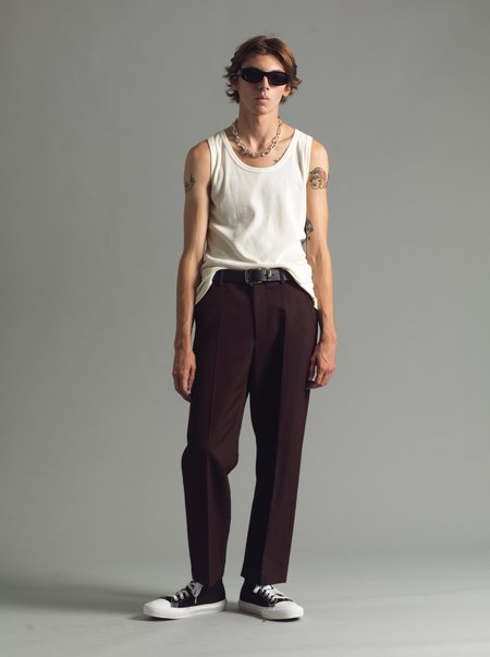 SECOND/LAYER Ceretto Flat Front Trouser - Brown