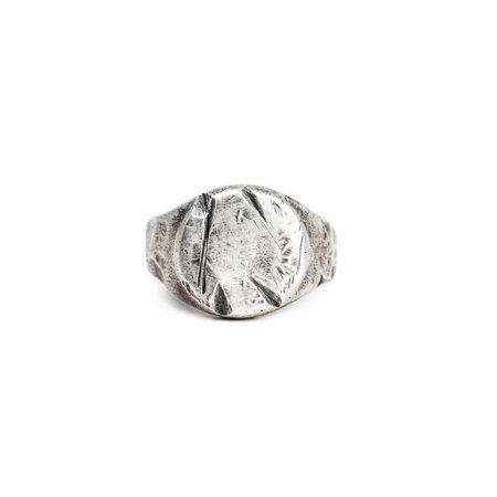 Shelton Metal DARK SEA SIGNET RING - STERLING SILVER