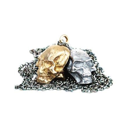 Shelton Metal STEDE BONNET SKULL NECKLACE - BRONZE