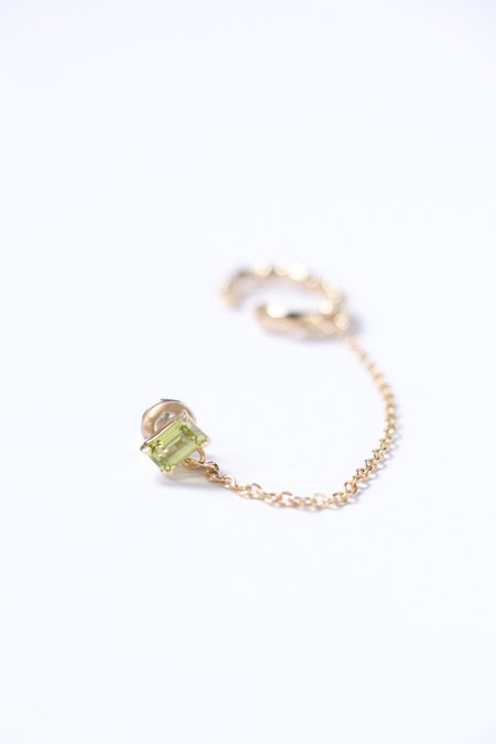 Faris Roca Gem Studcuff earrings - Bronze