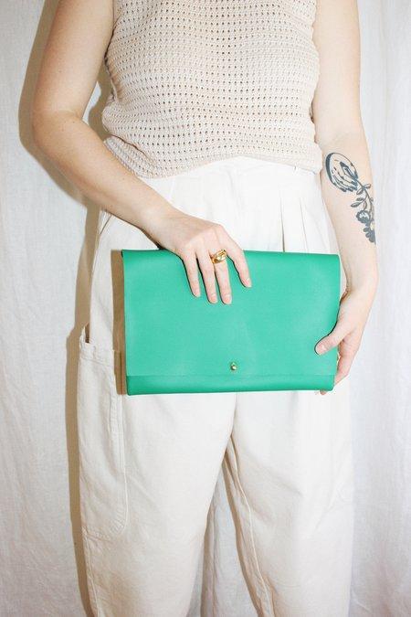 ARA Handbags Fold Over Clutch - Green