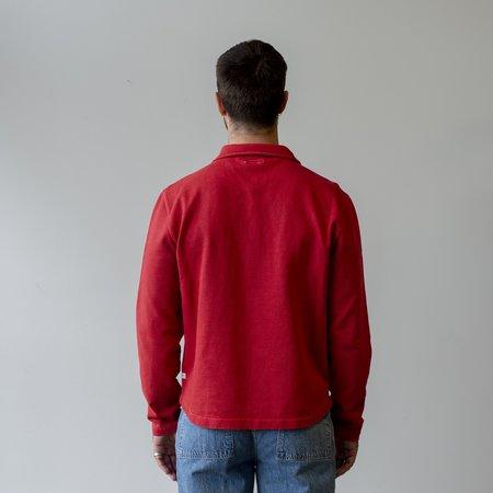 Knickerbocker Compact Knit Quarter Zip Shirt - Red