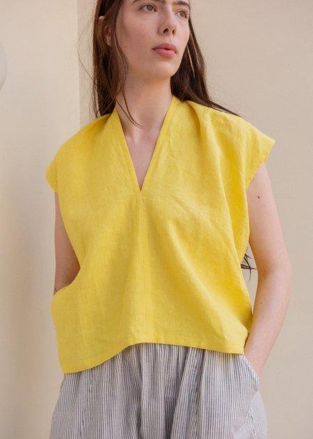 Miranda Bennett Everyday Linen Top - Citron