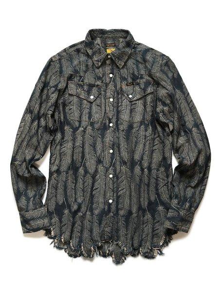 Kapital 5oz Feather Denim Western Shirt - Indigo