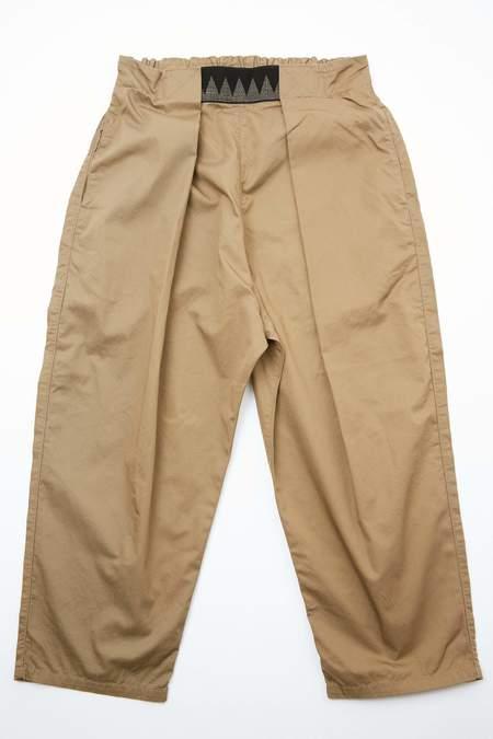 Kapital Combed Burberry Cotton EASY-BEACH-GO Pants - Beige